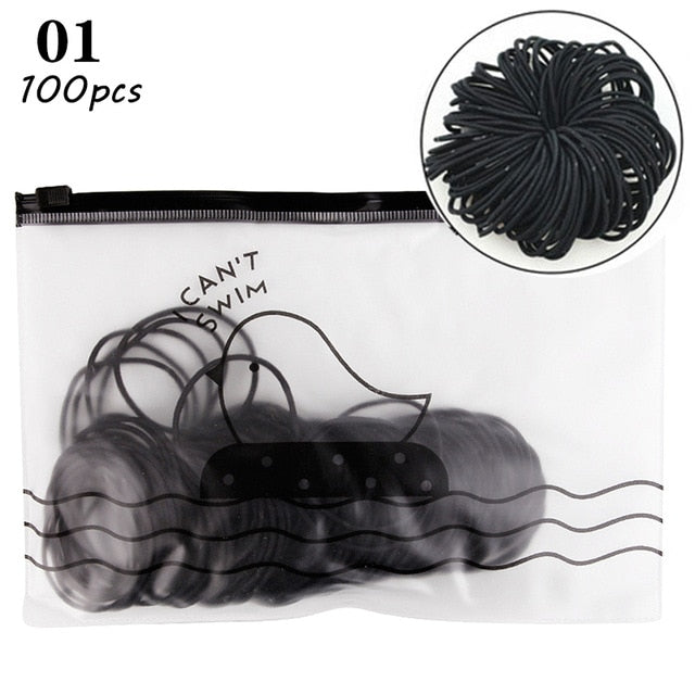 100pcs/bag 4.5cm High Elastic Rubber Bands