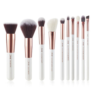 Jessup Makeup brushes set 6-25pcs Pearl White / Rose Gold