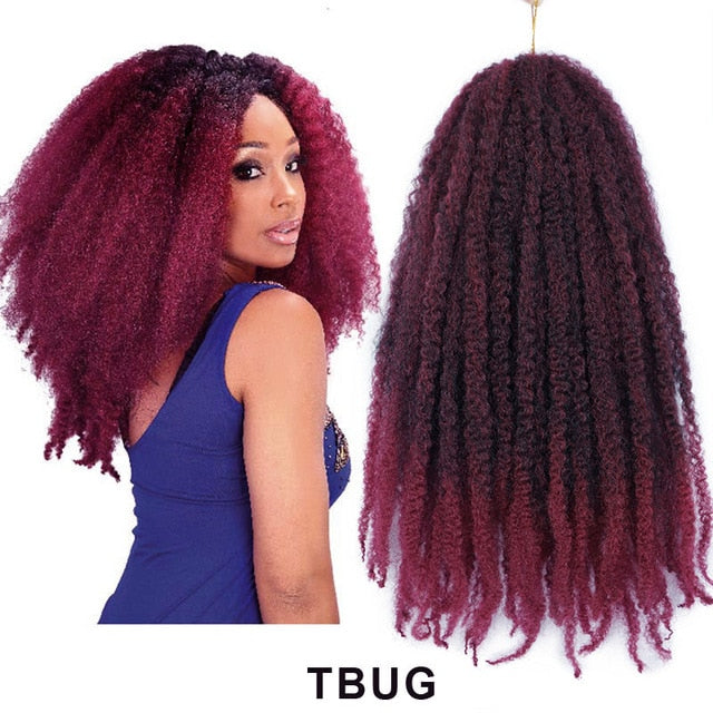 14 - 18inch Marley Braids Synthetic Afro Kinky Curl Braiding Hair Extensions