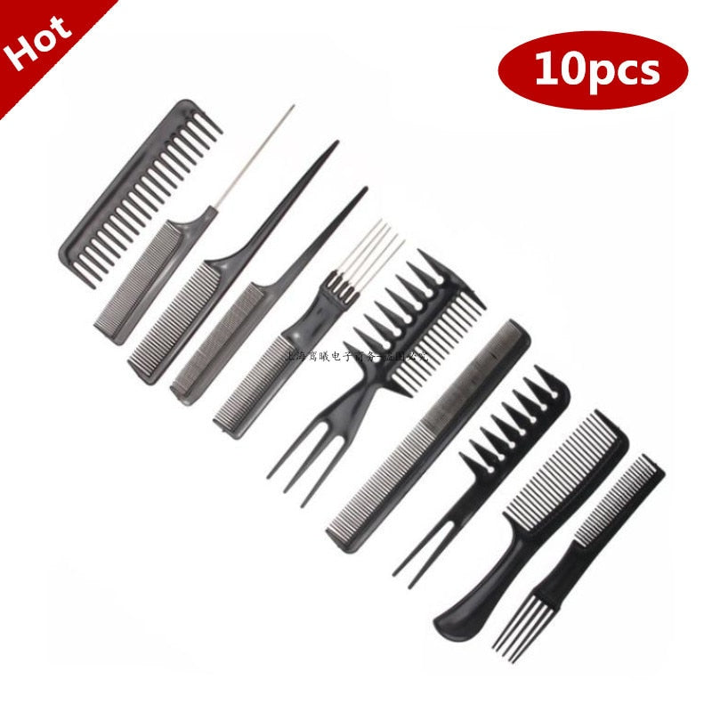 Best New 10pcs/Set Professional Hair Brush Comb