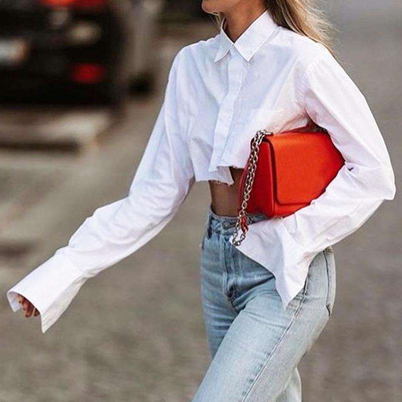 Solid Cropped Shirt