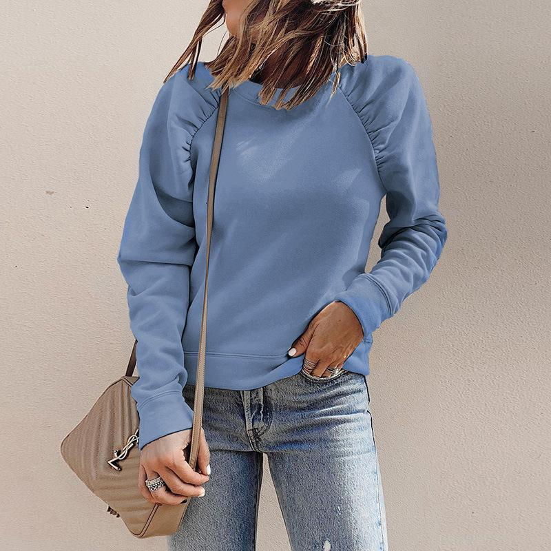 Pleated Details Casual Sweatshirt