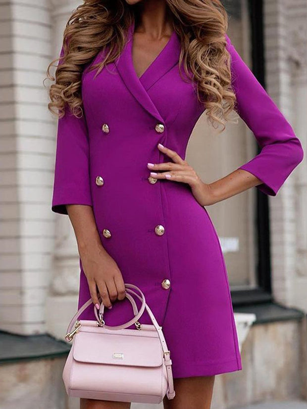 Double Breasted Professional Suit Dress