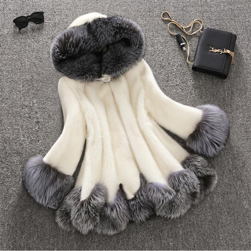 Medium Length Fox Fur Coat