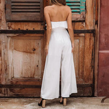 Load image into Gallery viewer, Ruffled Tube Top Set Wide-leg Jumpsuit