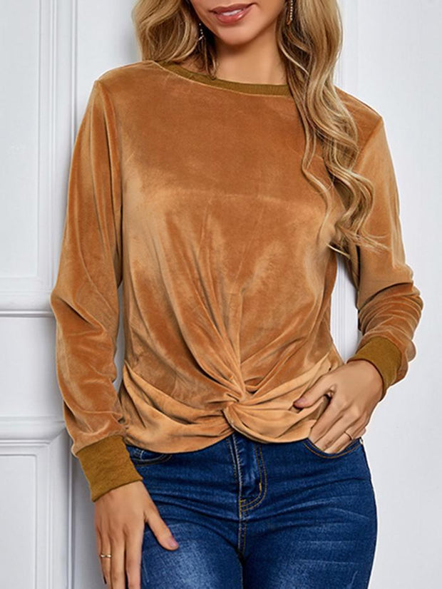 Knotted Cropped Slim Top