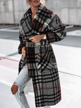 Load image into Gallery viewer, Casual Personality Plaid Long-sleeved Jacket