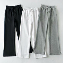 Load image into Gallery viewer, Women Slit Hem Pockets Wide Leg Casual Pants
