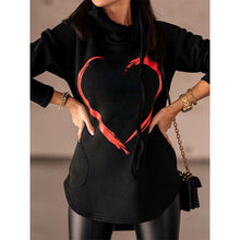 Load image into Gallery viewer, Casual Love Print Hooded Sweatshirt