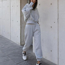Load image into Gallery viewer, Casual Hooded Sweatshirt Sports Suit