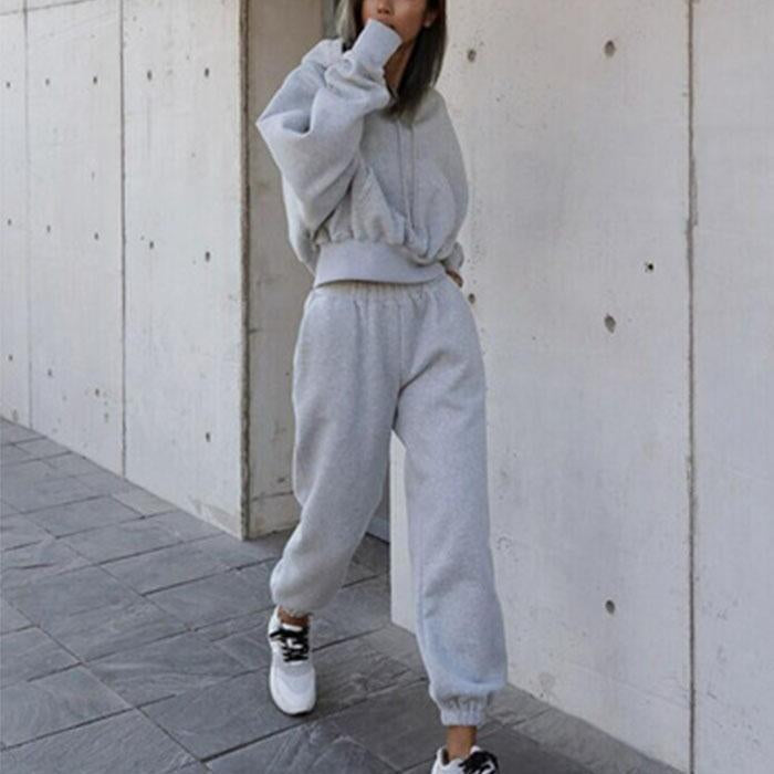 Casual Hooded Sweatshirt Sports Suit