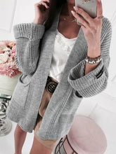 Load image into Gallery viewer, Casual Pocket Sweater Cardigan