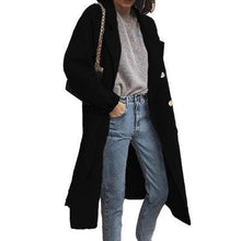 Load image into Gallery viewer, Fashion Solid Color Woolen Long Coat