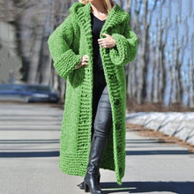 Load image into Gallery viewer, Chunky Knit Long Hooded Cardigan