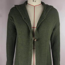 Load image into Gallery viewer, Solid Ribbed Hooded Casual Cardigan