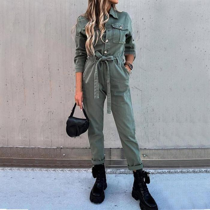 Women Solid Fashion Overalls