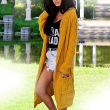 Load image into Gallery viewer, Loose Knitted Sweater Cardigan Jacket