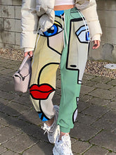 Load image into Gallery viewer, Casual Abstract Face Print Pants