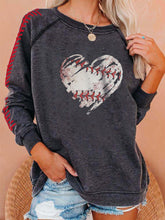 Load image into Gallery viewer, Round Neck Love Print Mid-length Top