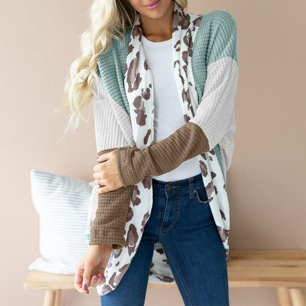 Striped Contrast Casual Sweater Cardigan