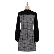 Load image into Gallery viewer, Women Plaids Paneled Elegant Dress