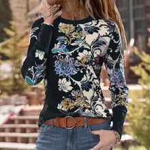 Load image into Gallery viewer, Fashion Floral Print Long Sleeve T-shirt