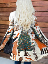 Load image into Gallery viewer, Christmas Elk Print Casual Long Sleeve Cardigan