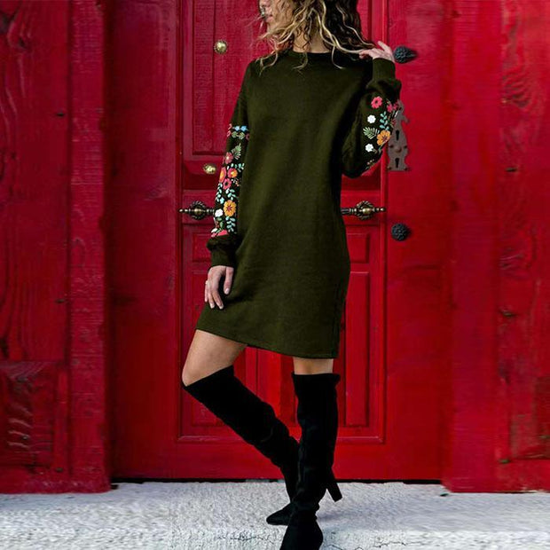 Sexy Pullover Long Sleeve Dress