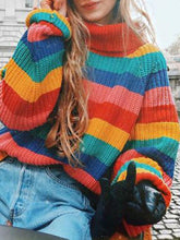 Load image into Gallery viewer, Fashion Rainbow Sweater