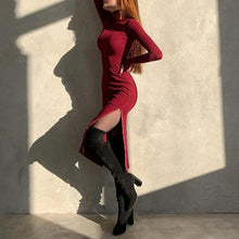 Load image into Gallery viewer, Sexy High Slit Dress