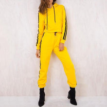 Load image into Gallery viewer, Ladies' Solid Color Comfortable Cotton Top Pants Sports Casual Suit