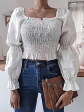 Load image into Gallery viewer, Puff Sleeves Chic Blouse