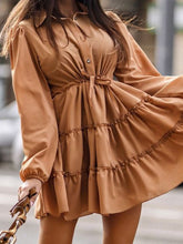 Load image into Gallery viewer, Solid Color Long Sleeve Dress