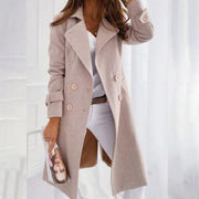 Casual Solid Color Lapel Coat