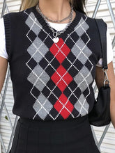 Load image into Gallery viewer, V-Neck Diamond Sweater Vest