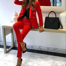 Load image into Gallery viewer, Women Fashion Blazer Suit Sets