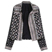 Fashion Casual Printed Long Sleeve Jacket