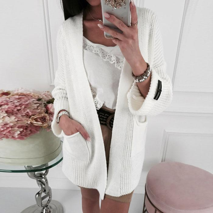 Casual Pocket Sweater Cardigan