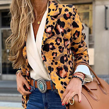 Load image into Gallery viewer, Women Leopard Fashion Blazer