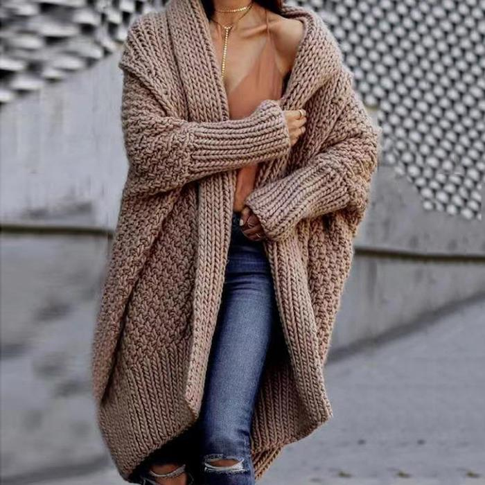 Loose And Thick Sweater Cardigan Coat