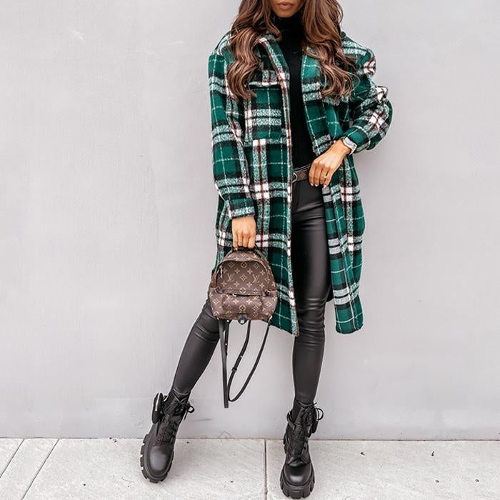 Vintage Check Pocket Coat