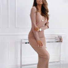Load image into Gallery viewer, Sexy Tight-fitting Solid Color Sweater Dress