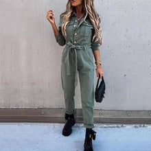 Load image into Gallery viewer, Women Solid Fashion Overalls
