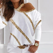 Casual Off-Shoulder T-Shirt