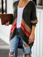 Load image into Gallery viewer, Autumn and Winter Striped Cardigan
