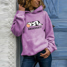 Load image into Gallery viewer, Casual Cow Print Hoodie