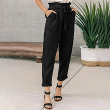 Load image into Gallery viewer, Loose-Waist Cropped Trousers