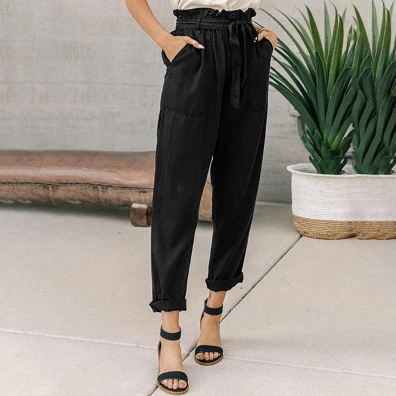 Loose-Waist Cropped Trousers