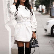 Load image into Gallery viewer, Sexy Round Neck Long Sleeve Sweater Dress