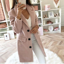 Load image into Gallery viewer, Casual Solid Color Lapel Woolen Coat